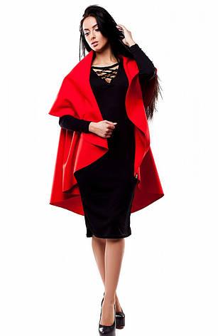 Женский модный жилет красный, кашемир, р.42-50, фото 2