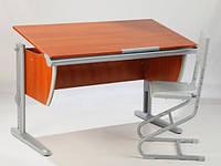 Комплект Детская парта растишка стол трансформер Demi СУТ15-00+СУТ01 (кальвадос\серый) со стулом