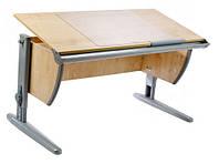 Детская парта растишка стол трансформер Demi СУТ15-00 (клен\серый)