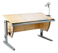 """Детская парта растишка стол трансформер Demi СУТ15-00 с рисунком """"Фрегат"""" (клен\серый) со стулом"""