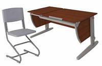 Комплект Детская парта растишка стол трансформер Demi СУТ17-00+СУТ01 (кальвадос\серый)