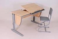 Детская парта растишка стол трансформер Demi СУТ17-00 (клен\серый)