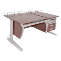 Комплект Детская парта растишка стол трансформер Demi СУТ17-04+СУТ01+ТСН.01-01 (кальвадос\серый)