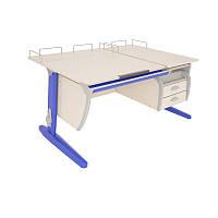 Комплект Детская парта растишка стол трансформер Demi СУТ17-04+СУТ01+ТСН.01-01 (клен\синий)