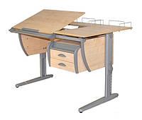 Комплект Детская парта растишка стол трансформер Demi СУТ17-04+СУТ01+ТСН.01-01 (клен\серый)