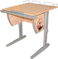 """Детская парта растишка стол трансформер Demi СУТ14-01 с рисунком """"Фрегат"""" (клен\серый)"""