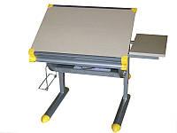 Детская парта растишка стол трансформер Goodwin KD-F1122 серый корпус (SUN)