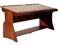 Детская парта растишка стол трансформер Абсолют Школярик (с пеналом) Без стула (Цвет: Бук шоколадный-Бук снег) С-885