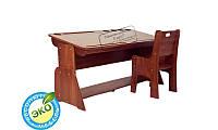 Детская парта растишка стол трансформер Абсолют Школярик (Без пенала, со стульчиком) (Цвет: Бук шоколадный-Бук снег) С-888+С877