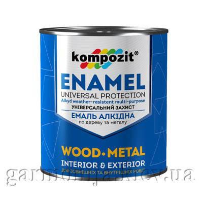 Эмаль ПФ-115 Kompozit, 0.9 кг, Красно-коричневый, фото 2