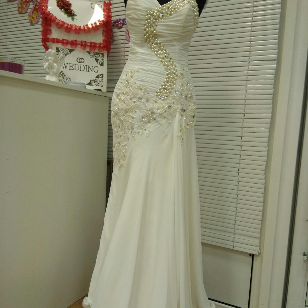 Свадебное платье шифоновое недорого (48р).