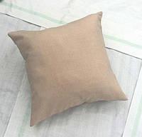 Подушка квадрат ложный лен 40*40 см от производителя Украина
