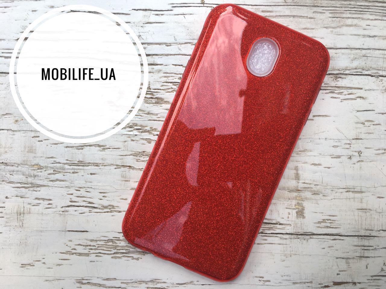 Силиконовый чехол Shine Samsung J730 (J7 2017) красный