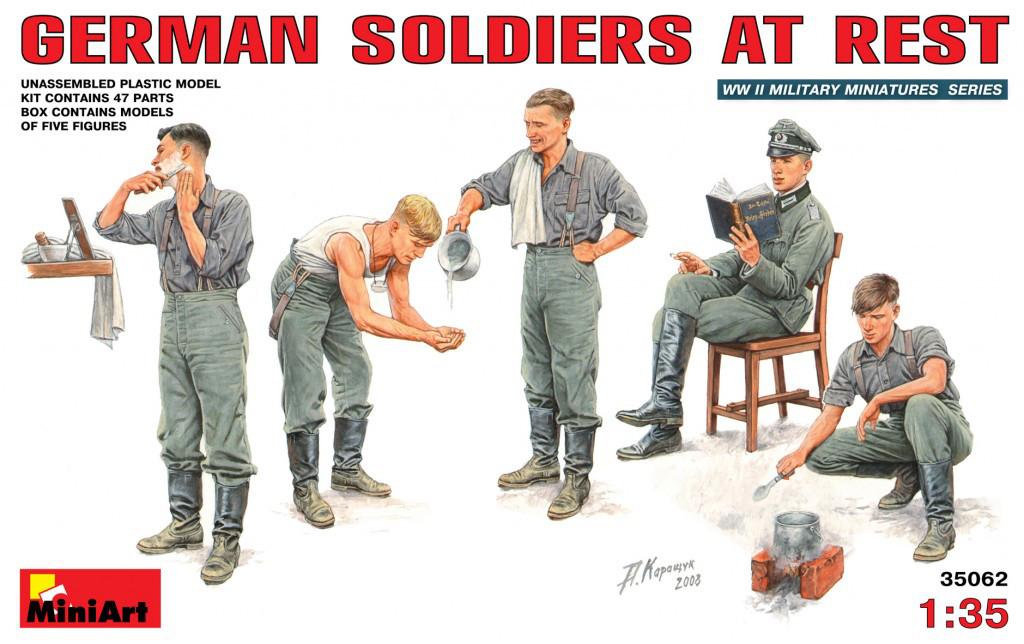 Немецкие солдаты на отдыхе. 1/35 MINIART 35062