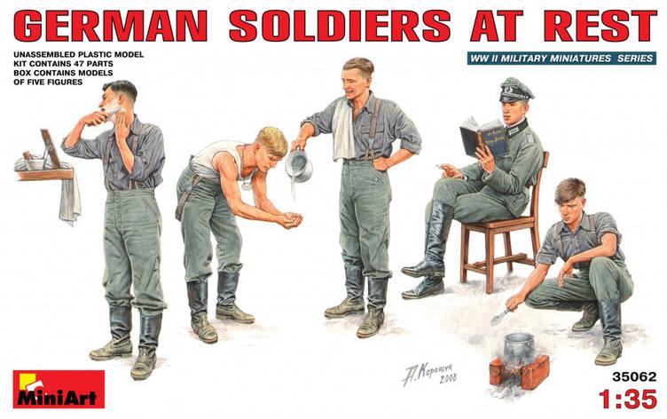 Немецкие солдаты на отдыхе. 1/35 MINIART 35062, фото 2