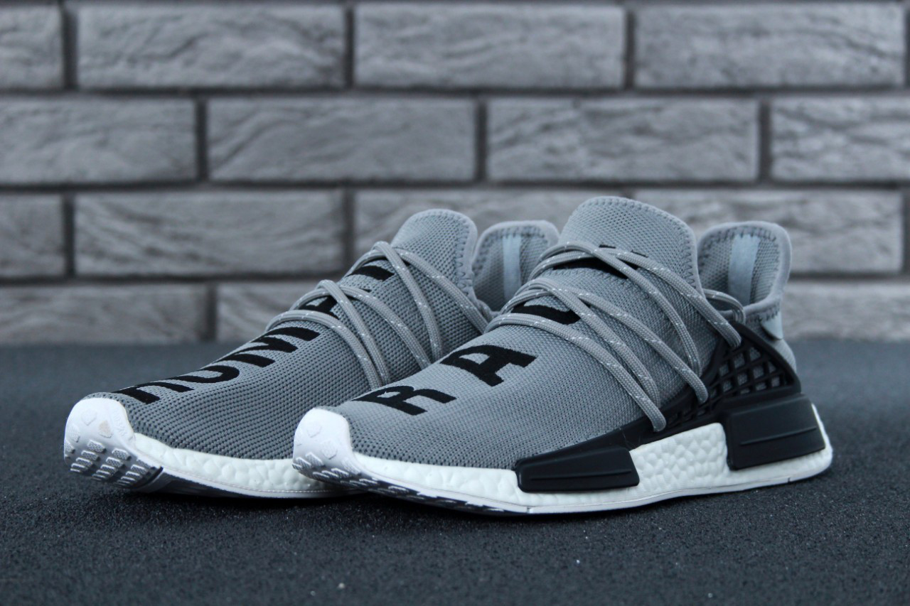 beb3f1adf3492 Мужские кроссовки Supreme x Adidas Pharrell Williams NMD Human Race Grey  реплика