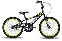 Велосипед 20'' PRIDE JACK черно-зеленый матовый 2015