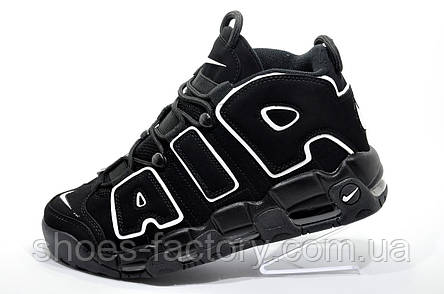 Баскетбольные кроссовки в стиле Nike Air More Uptempo, Black, фото 2