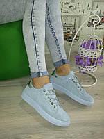 Голубые  крутые кеды,кроссовки,криперы  женские , фото 1