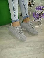 Серые крутые кеды,кроссовки,криперы  женские , фото 1