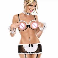 РАСПРОДАЖА Сексуальный костюм Горничная (открытая грудь)