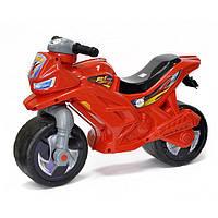 Детский двухколесный мотоцикл толокар Орион Красный