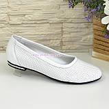 Женские кожаные стильные туфли на низком ходу, фото 2