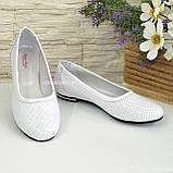 Женские кожаные стильные туфли на низком ходу, фото 3