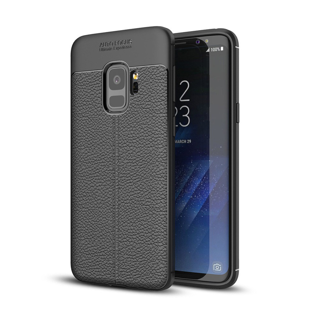 Чехол Samsung S9 / G960 силикон Original Auto Focus Soft Touch черный