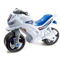 Детский двухколесный мотоцикл толокар Орион Белый