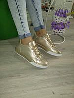 Золотые крутые кеды,кроссовки,криперы  женские, фото 1
