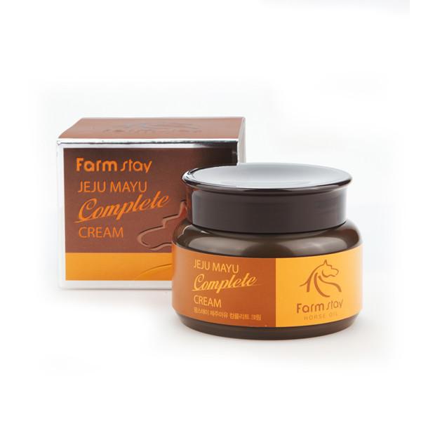 Комплексный крем с лошадиным жиром FarmStay Jeju Mayu Complete Cream, 100ml