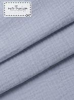 Двухслойный муслин  светло-голубой 135 г/м2  № 3-1
