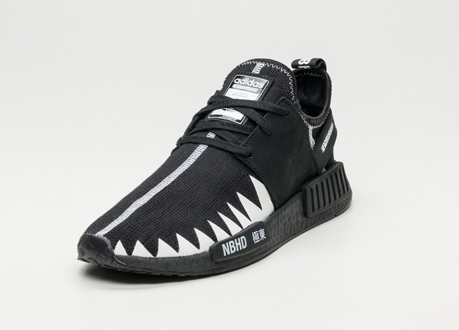 reputable site ee206 d9f61 Кроссовки Adidas x Neighborhood NMD R1 PK (Black/White) - Bigl.ua