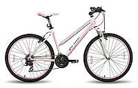 "Велосипед 26'' PRIDE STELLA рама - 16"" бело-розовый матовый 2015"