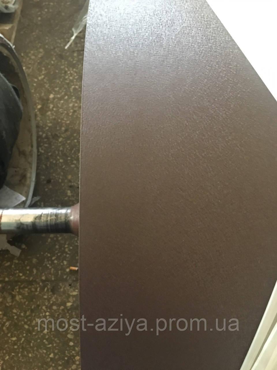 Профнастил двухсторонний матовый коричневый 8017 для забора, Профлист на забор матовый двухсторонний