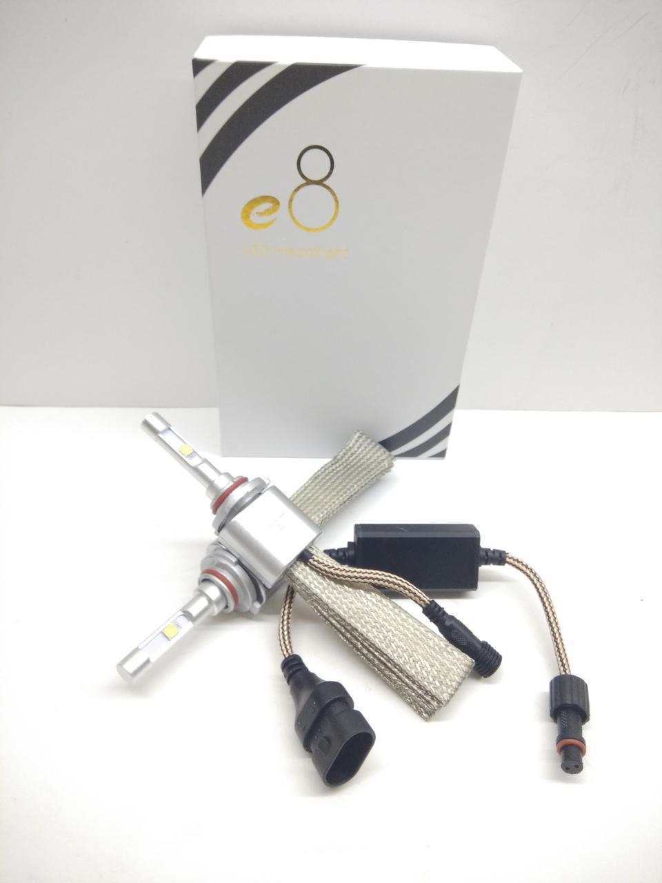 Автолампы LED E8, HB4 (9006), Cree XHP50, 7600Lm, 36W, косичка