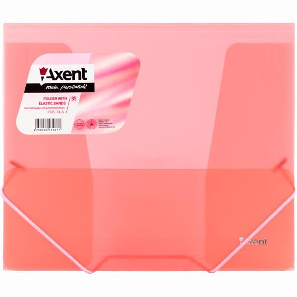 Папка на резинках Axent B5 1505-24-A красная