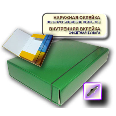 Папка на резинках iTEM А4 306/06 60 мм зеленая