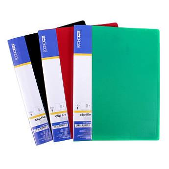 Папка з притиском А5 пластикова асорті Clip B Economix E31222