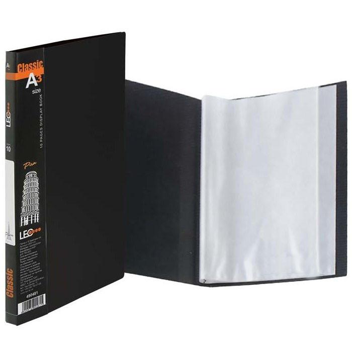 Папка на   20 файлов Leo А3 L5008-01 черная