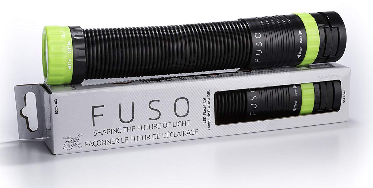 Портативный гибкий фонарик FUSO с магнитом, крючком и струбциной