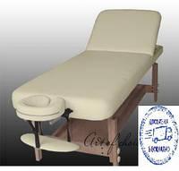Массажный стол полиуретановый(Белый) Стационарный 2-х секционный DON (ДОН) Доставка бесплатно!!!