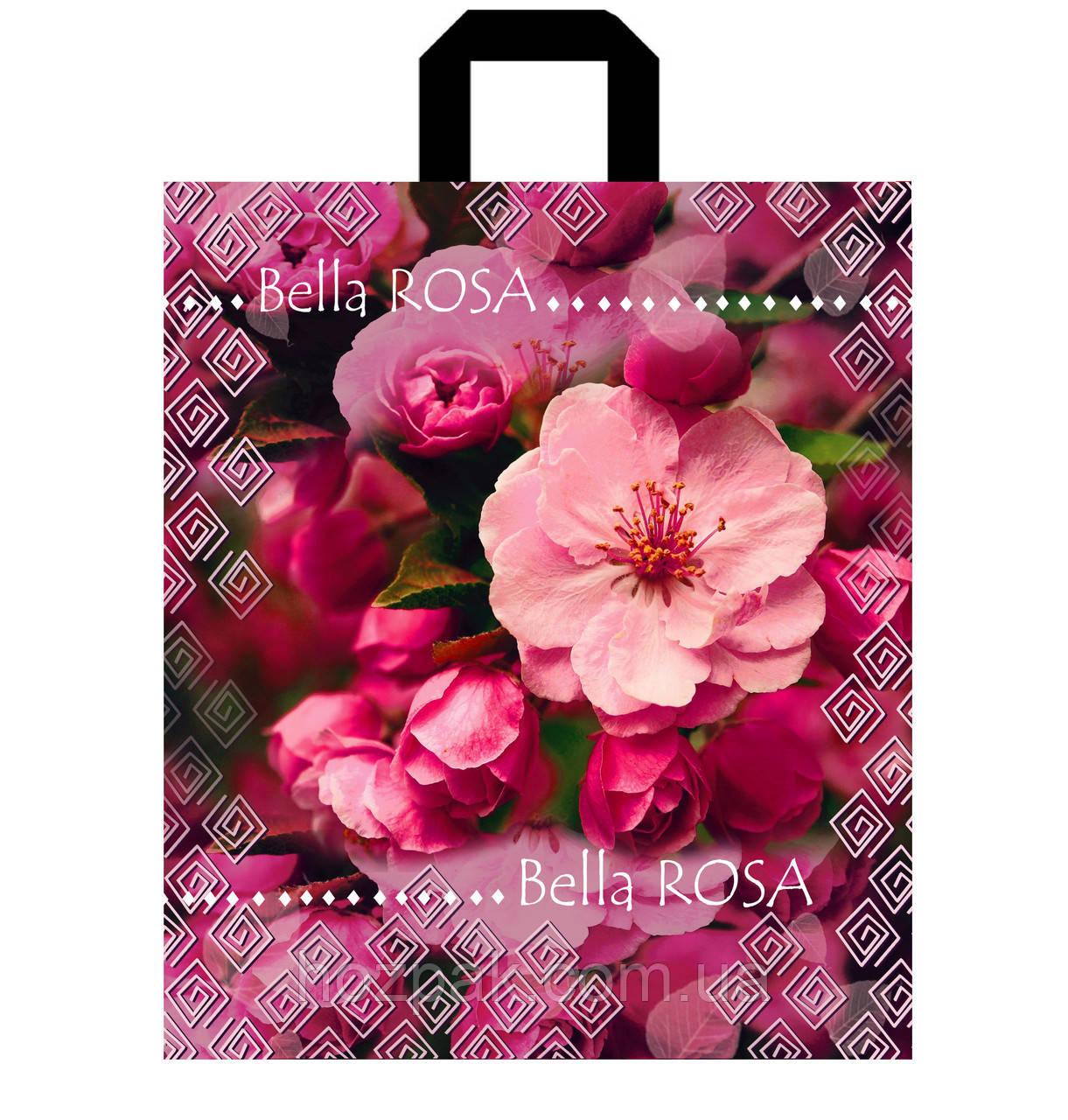 """Пакет с петлевой ручкой 40х43см 25шт. """"Bella rosa"""""""