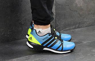 Мужские кроссовки синие-салатовый летние, фото 3