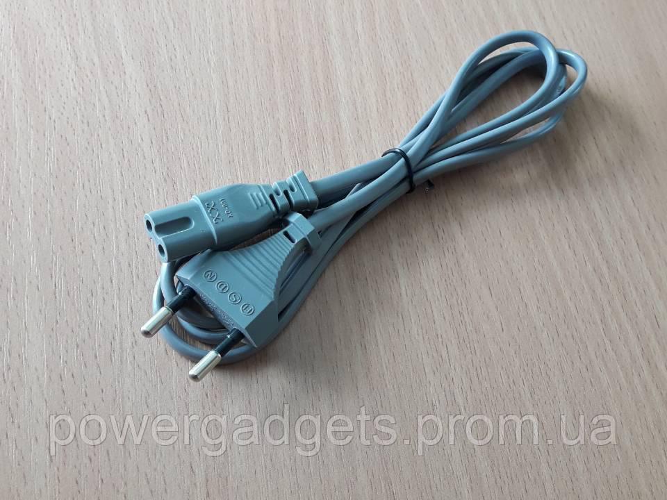 Сетевой кабель Euro 220v 2-pin silver 1м