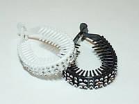 Твистер для волос, черный и белый(12 шт) 22_3_21