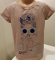 Детская футболка для девочки с модным рисунком