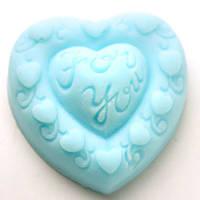 """Силиконовая форма для мыла Сердце """"For You"""""""