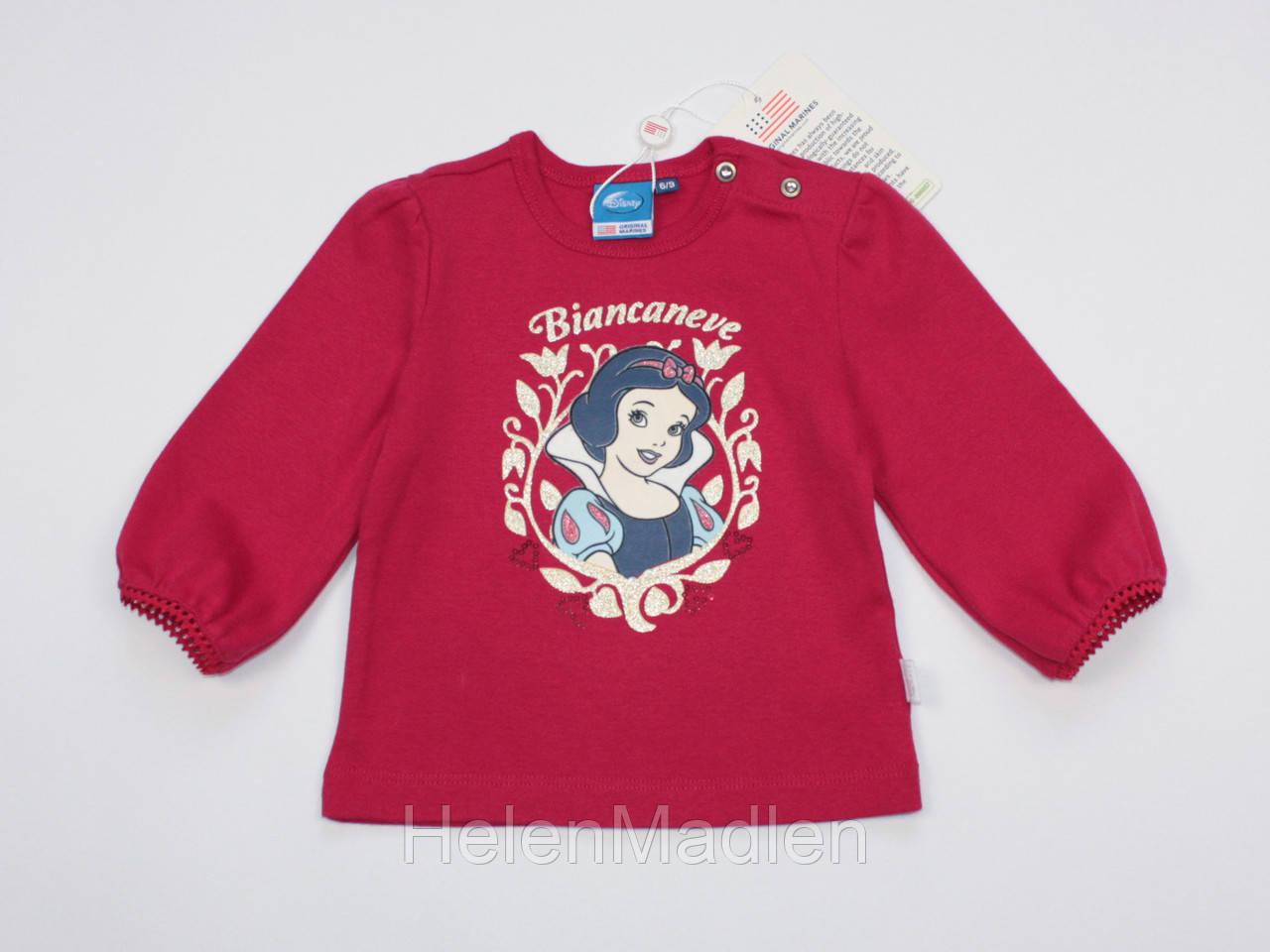 Лонгслив кофта для девочки Original Marines Disney с длинными рукавами 74 см красная